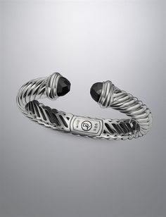 Gorgeous David Yurman 10x5mm Black Onyx Waverly Bracelet