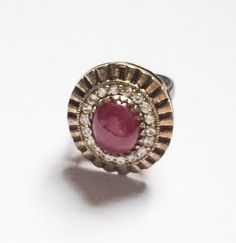 Ruby Ring 6.3 Carat White Topaz Sterling Silver by OurBoudoir