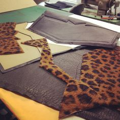 Almost ready for New York City! #JLang #leopard #leather #clutch #NewCollection #NewYork #CostaRica