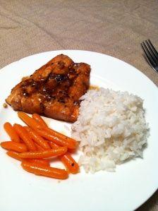 SCP's Sesame Ginger Salmon + Ginger Glazed Carrots
