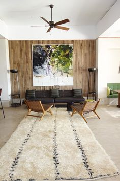 Wonderful vintage berber Beni Ouarain rug 4,20x2 meters