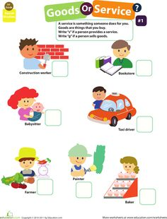 Worksheets: Goods and Services #1 (Lilys homework)