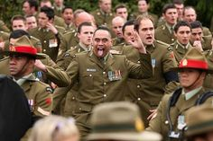 NZ Army soldiers perform a haka at the Military Commemorative Service for LCPL Durrer and LCPL Malone at Burnam Military Camp on August 11, 2012 in Christchurch, New Zealand. (August 10, 2012 - Source: Martin Hunter/Getty Images AsiaPac)