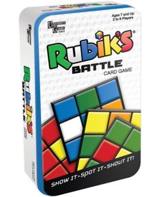 Kids Rubik's Battle Card Game Tin by University Games Age 7 & up for sale online Wedding Shower Gifts, Baby Shower Gifts, Battle Card Games, Set Card Game, Game Cards, Action Cards, Quick Thinking, Think Fast, School Birthday