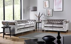 Tips That Help You Get The Best Leather Sofa Deal. Leather sofas and leather couch sets are available in a diversity of colors and styles. A leather couch is the ideal way to improve a space's design and th Chesterfield Corner Sofa, Velvet Corner Sofa, Corner Sofa Set, Crushed Velvet Living Room, Crushed Velvet Sofa, Velvet Furniture, Sofa Furniture, Furniture Removal, Farmhouse Furniture
