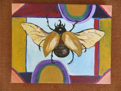 Rhino Beetle painting by SG Criswell