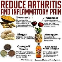 Reduce athritis and pain from inflammation