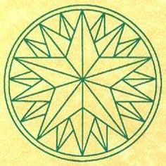Triple 5-pointed star of Luck, Love, and Happiness.  Also strong protection against fire.