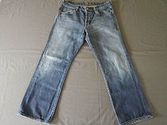 Mens Seven for All Mankind Button Fly Jeans Size 32
