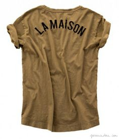 "The ""La Maison"" t-shirt by Zara / Garance Doré"