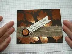 Burnished Glitter Technique with Stampin' Up! Ultrafine Glitter - YouTube