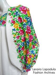 Yves Saint Laurent  ss 1990 dress detail Lerario Lapadula Fashion Archives  #museum #couture #dress #flowers #moda #vogue