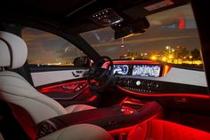 New S- class. Red accent.. Too sweet!!