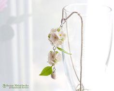 Pendant Lilac Syringa Polymer Clay Flowers por SaisonRomantique