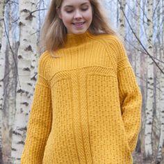 LANKAVA: Taskujumpperi. Pocket sweater. Pia Heilä, Lankava. Photo: Beada Kinnarinen.