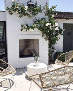 patio + fireplace