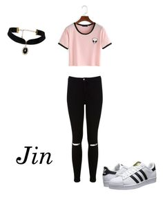 """""""Jin"""" by bts-polyvore on Polyvore featuring Miss Selfridge and adidas Originals"""