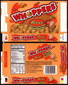 Hershey's – Whoppers – Reese's Peanut Butter – candy box – 2012 Box Template Printable, Minis, Peanut Butter Candy, Barbie Food, Cool Paper Crafts, Retro Candy, Malted Milk, Vintage Packaging, Fake Food