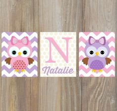 New baby girl nursery themes owl playrooms ideas Baby Girl Nursery Themes, Owl Nursery, Art Wall Kids, Wall Art, Owl Print, New Baby Girls, Playroom, Decoration, New Baby Products