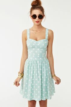 Polka Dot Dress. love the whole look.