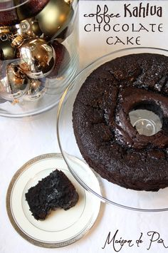 Perfect for holidays! coffee kahlua chocolate cake... yummy | via maisondepax.com #recipe #dessert