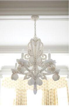 shell chandelier