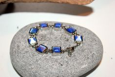 Blue Tennis Bracelet Silver Tennis Bracelet by AntiqueAlchemyShop, $5.00