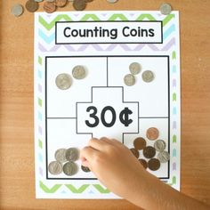Counting Coins Money Games Money Math Game-Counting Coins for Grade Counting Money Games, Money Math Games, Money Activities, Counting Coins, Math Games For Kids, 1st Grade Math Games, Fun Games, Learning Money, Fun Learning