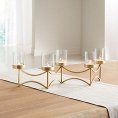 Rory Brass Tea Light Centerpiece at Crate and Barrel Canada. Discover unique furniture and decor from across the globe to create a look you love. Unique Furniture, Custom Furniture, Tea Light Candles, Tea Lights, Crate And Barrel, Lighted Centerpieces, Centerpiece Ideas, Victorian Home Decor, Home Decor Vases
