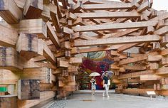 grown up childsplay.  Tezuka Architects - Woods of net pavilion, Hakone 2009. Via.