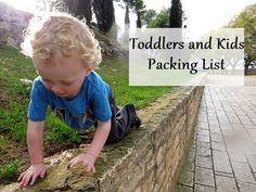 Pint Size Packing List! Toddler via TravelFashionGirl.com