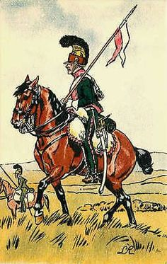French Army First Empire Uniform 1812 Light Horse Scout Antique Vintage Postcard