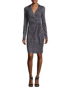 Jelsa Silk Jersey Faux-Wrap Dress
