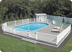 inground pools | , Above-Ground, Pools & Spas - Pool Showroom > Semi-Inground Pools ...