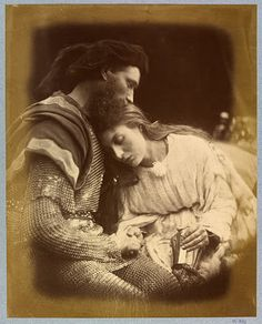 One of my favorite things I ever came across at the MET museum. Julia Margaret Cameron is, arguably, one of the greatest portraitists in the history of photography. This photo is called The Parting of Guinivere and Lancelot, Victorian Photography, Old Photography, History Of Photography, Julia Margaret Cameron Photography, Julia Cameron, Charles Darwin, Vintage Photographs, Vintage Photos, Lancelot And Guinevere