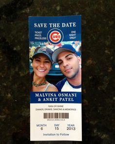 Baseball Ticket Wedding Invitation... this is cute...