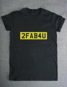 2FAB4U Number Plate Streetwear T-Shirt by ResilienceStreetwear