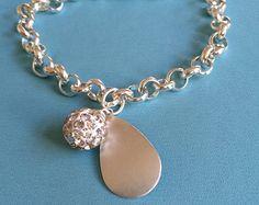 Bridal Crystal and Silver Bracelet - Edit Listing - Etsy