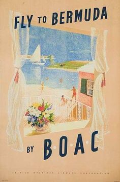 1950's BOAC travel poster