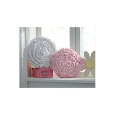 Girly-girly style is unabashedly in full bloom in this accent pillow. Fun pom pom shape and layer upon layer of ruffles are sure to delight. Accent Pillows, Floor Pillows, Decorative Throw Pillows, Shapes, Living Room, Pink, Purple, Cotton, Furniture