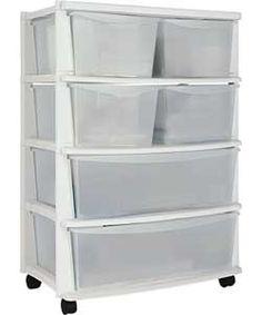 5 drawer plastic slim tower storage unit silver. Black Bedroom Furniture Sets. Home Design Ideas