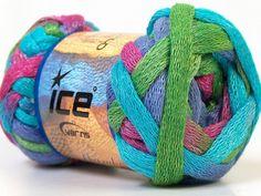 Knitting ruffle scarf yarn ICE Mambo cotton by specialyarnshop, $9.50