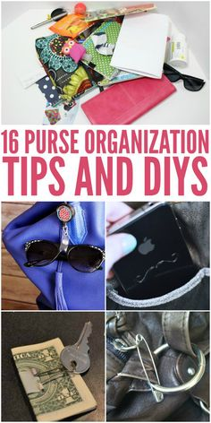 I know I need to use these organization tips for my purse! -One Crazy House