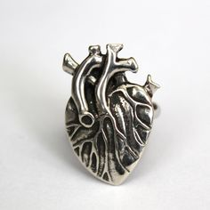Anatomical Human Heart Cocktail Ring by mrd74 on Etsy, $45.00