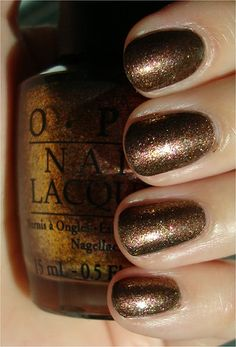 """OPI has a Muppets collection!  This is """"Warm & Fozzie"""".  Isn't this a spectacular brown polish??"""