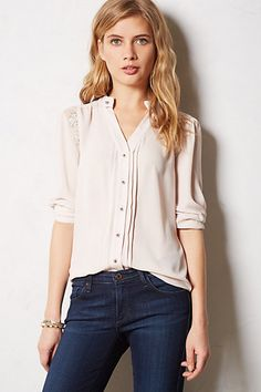 Laceglow Buttondown #anthropologie