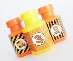 Construction Deluxe Mini Bubble Party Favors