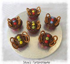 Silvia's Tortenträume: Schokomuffins Muffin Schmetterling Smarties