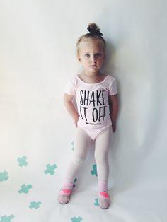 TODDLER LEOTARD Shake it Off Pink Girls Leotard by HENANDCO