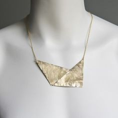 recycled metal necklace by Objects & Subjects